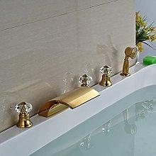 Rubinetto per vasca da bagno in ottone 5 pezzi