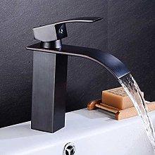 Rubinetto quadrato nero Rubinetto per bagno