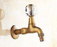 Rubinetto rubinetto in ottone antico europeo