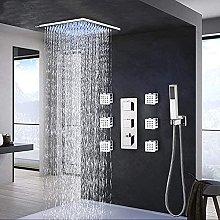Rubinetto termostatico per bagno Cromo LED Doccia