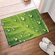Rugiada verde su foglia verde Tappetino da bagno