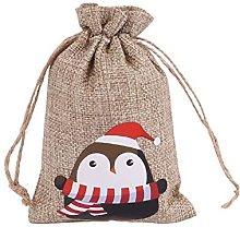 RuiJ 1 set di sacchetti di lino, con coulisse,