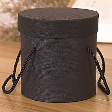RuiYELE - Scatola regalo rotonda con manico in