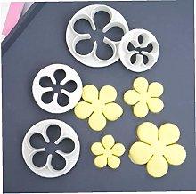 Ruluti 4 Pz/Set Rose Flower Shape Plastic