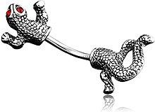 Ruluti Gecko Shape Ombelico Anelli del Tasto di