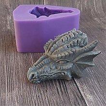 Runloo - Stampo in silicone 3D con drago 3D, per