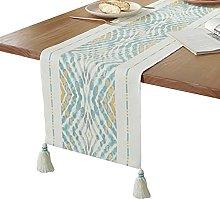 Runner da tavolo RENRUIRUI Nappe Blu e Giallo