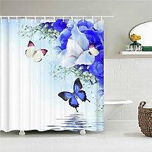 rurality fiori freschi tende da doccia a parete