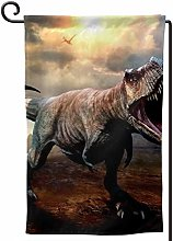 Rxi9s - Bandiera da giardino con dinosauro,