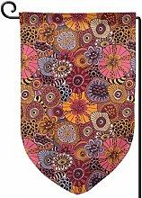 Rxi9s - Bandiera da giardino con fiori africani,