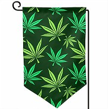 Rxi9s - Bandiera da giardino con foglie di