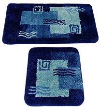 S&S-Shop Set di tappetini da bagno | blu | Milano