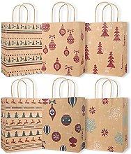 Sacchetti regalo a tema natalizio 12 pezzi Scatola
