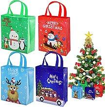 Sacchetti regalo natalizi in tessuto non tessuto,