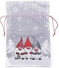 Sacchetto regalo di Natale in lino senza volto