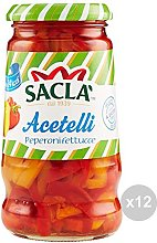 Sacla Set 12 Peperoni fettucce gr 290 condimento,
