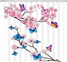 Sakura - Tenda da doccia con fiori di ciliegio e
