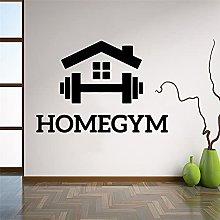 Sala fitness fumetto palestra decorazione vinile