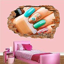 Salone di bellezza trucco unghie vernice adesivo