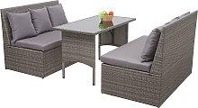 Salottino da esterno 2x divani con tavolo HWC-G16