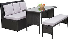 Salottino da esterno divano panca tavolo HWC-G16