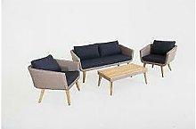 Salotto in polirattan chelsa arredo esterno divano