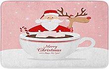Saluto con Babbo Natale Natale Renna E Tazza Di