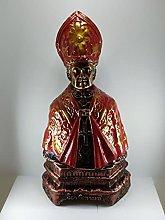 san gennaro, statua busto cm.19 (mantello rosso)