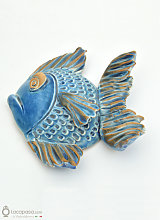 SAN PIETRO - Pesce bomboniera ceramica - 10 cm