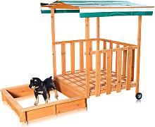 Sandbox Melko con veranda giochi, copertura e