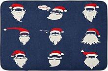 Santa Cappelli Baffi E Barbe Elementi Di Natale