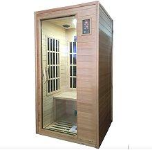 Sauna Finlandese Ad Infrarossi 2 Posti 90x90 Cm In