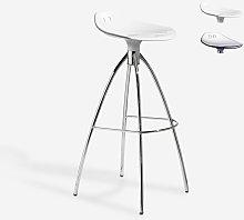 Scab Design - Sgabello design gambe in acciaio