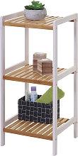 Scaffale arredo bagno HWC-B55 legno di pino e