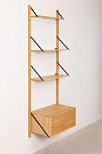 Scaffale da parete modulare in bambù Kolex Nero &