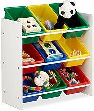 Scaffale per Bambini con Box Porta Giochi