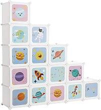 Scaffale Portaoggetti a 16 Cubi per Bambini,