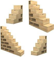Scala Cubix con cassetti e scaffali