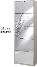 Scarpiera Olmo 5 Ante a Specchio Ribalta Doppia 25