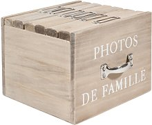 Scatola 6 album fotografici in legno 13 x 17 cm
