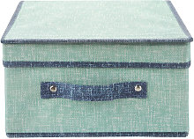 Scatola armadio 28x33x15 cm Maureen verde verde