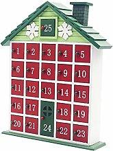 Scatola calendario natalizia, calendario natalizio