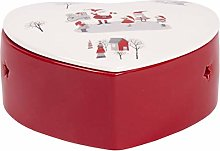 Scatola Cuore Natalizia in ceramica 3409