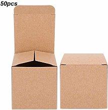 Scatola di carta marrone da 50 pezzi, scatola di