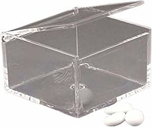 Scatola in plexiglass portaconfetti quadrata