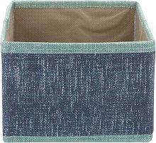 Scatola organizer 15x15x11 cm Maureen blu blu