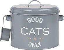 Scatola porta crocchette per gatto in metallo