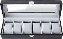 Scatola Porta Orologi con 6 Scomparti, Contenitore