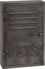 Scatola portachiavi industriale in metallo grigio