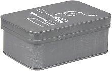 Scatola Portagioie 21x15x9 cm - Grigio - Label51